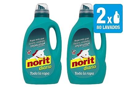 Norit, Detergente Diario Toda la Ropa, 2120 ml, 2 Unidades (Total 4240