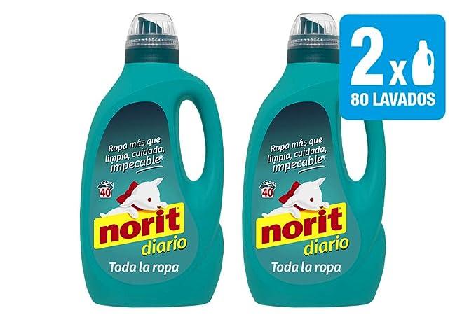 Norit, Detergente Diario Toda la Ropa, 2120 ml, 2 Unidades (Total 4240 ml): Amazon.es: Salud y cuidado personal