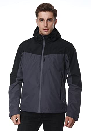 Amazon.com: MIER para hombre chaquetas de lluvia Lluvia ...