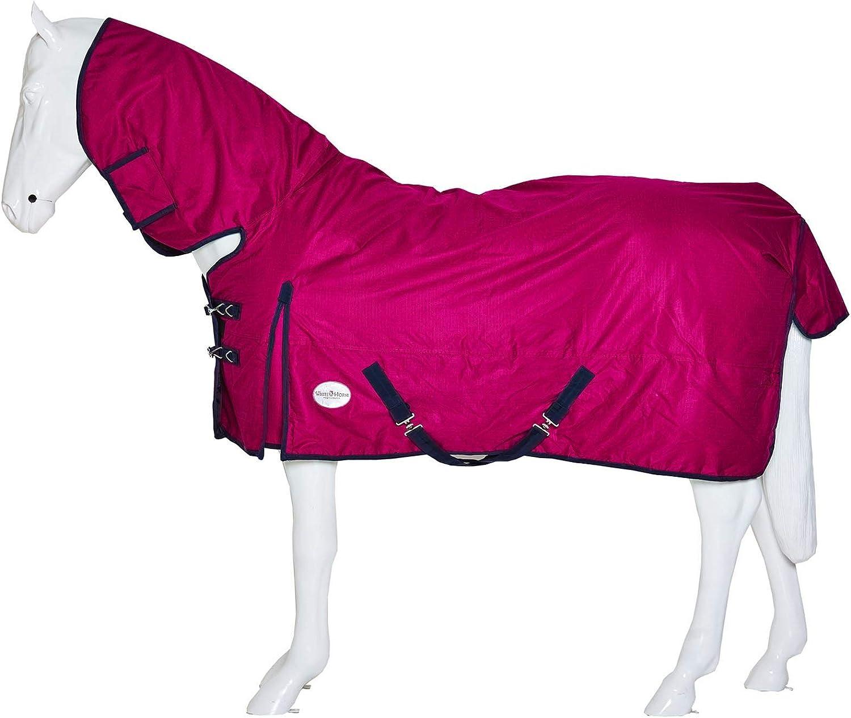 Best On Horse - Alfombra de Invierno para Caballo, Peso Pesado, Transpirable, Impermeable, con Cuello Completo, para Invierno, tamaños, Ecuestre, Frambuesa, UK 7'6 / EU 170cm / 95