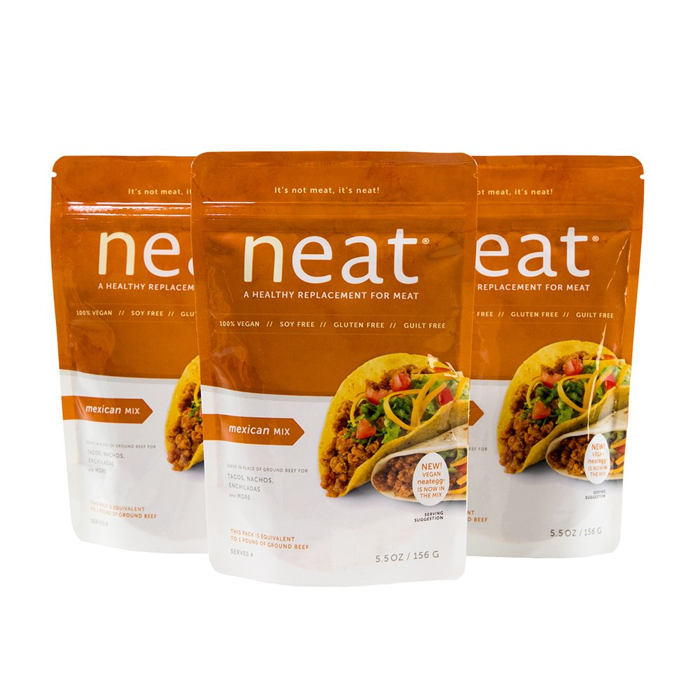 neat - Plant-Based - Mexican Mix (5.5 oz.) (Pack of 3) - Non-GMO, Gluten-Free, Soy Free, Meat Substitute Mix by Neat (Image #2)