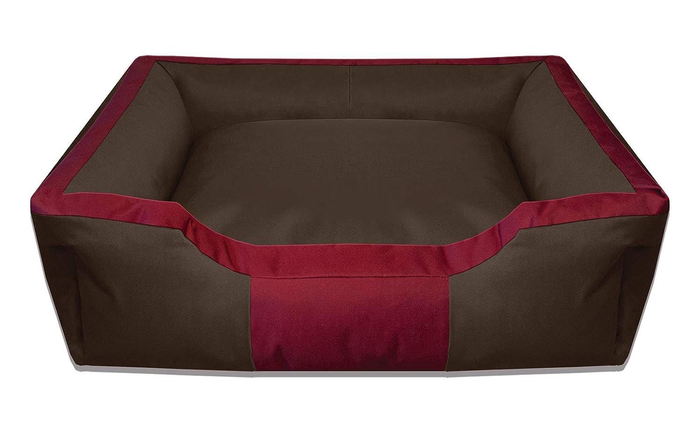 BedDog BRUNO marron/rojo XXL aprox. 115x85cm colchón para perro, 16 colores, cama para perro, sofá para perro, cesta para perro: Amazon.es: Coche y moto