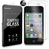 Ganvol (2er SET) Panzerglasfolie Apple iPhone 4S / iPhone 4 Panzerfolie Panzerglas Glasfolie Hartglas Folie Schutzfolie
