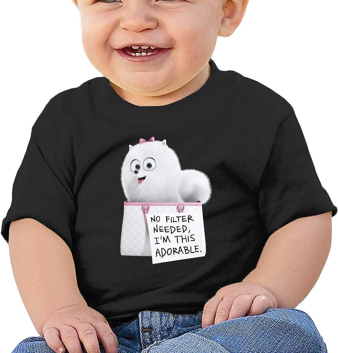 LIIREN Gidget Tee Custom Cute T Shirt for Baby Boy and Baby Girl Black