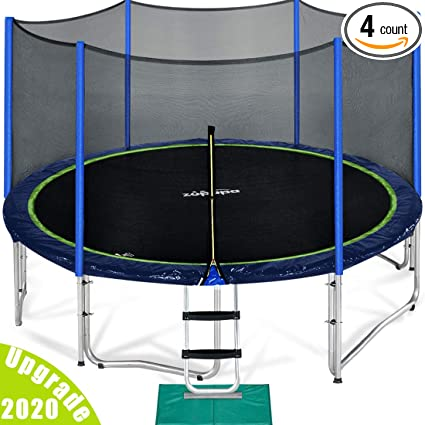 Zupapa 15 14 12 FT TUV Approved Trampoline- Top Pick Outdoor Trampoline Overall