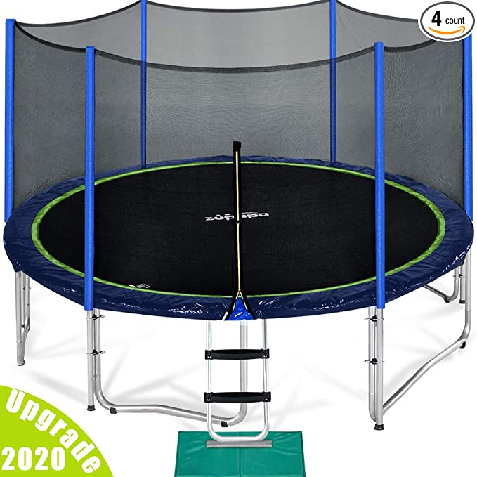 Zupapa TUV Trampoline With Enclosure Net - Best Trampoline For Adults
