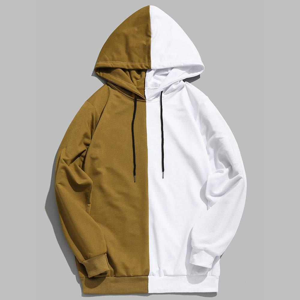 Longra ☂☂ ☂☂ ☂☂✿✿ diseño para Hombre Patchwork Casual Slim Fit Sudadera con Capucha Outwear Blusa Tops Camisa: Amazon.es: Ropa y accesorios