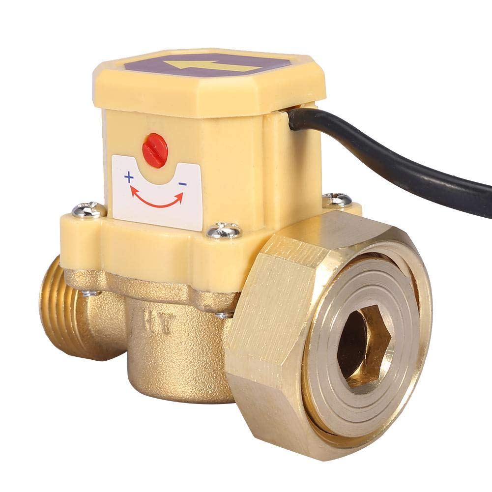 Water Flow Switch, G1-G1/2 Thread Water Flow Control Switch 220V Water Pump Adjustable Flow Sensor Pressure Automatic Flow Control Switch