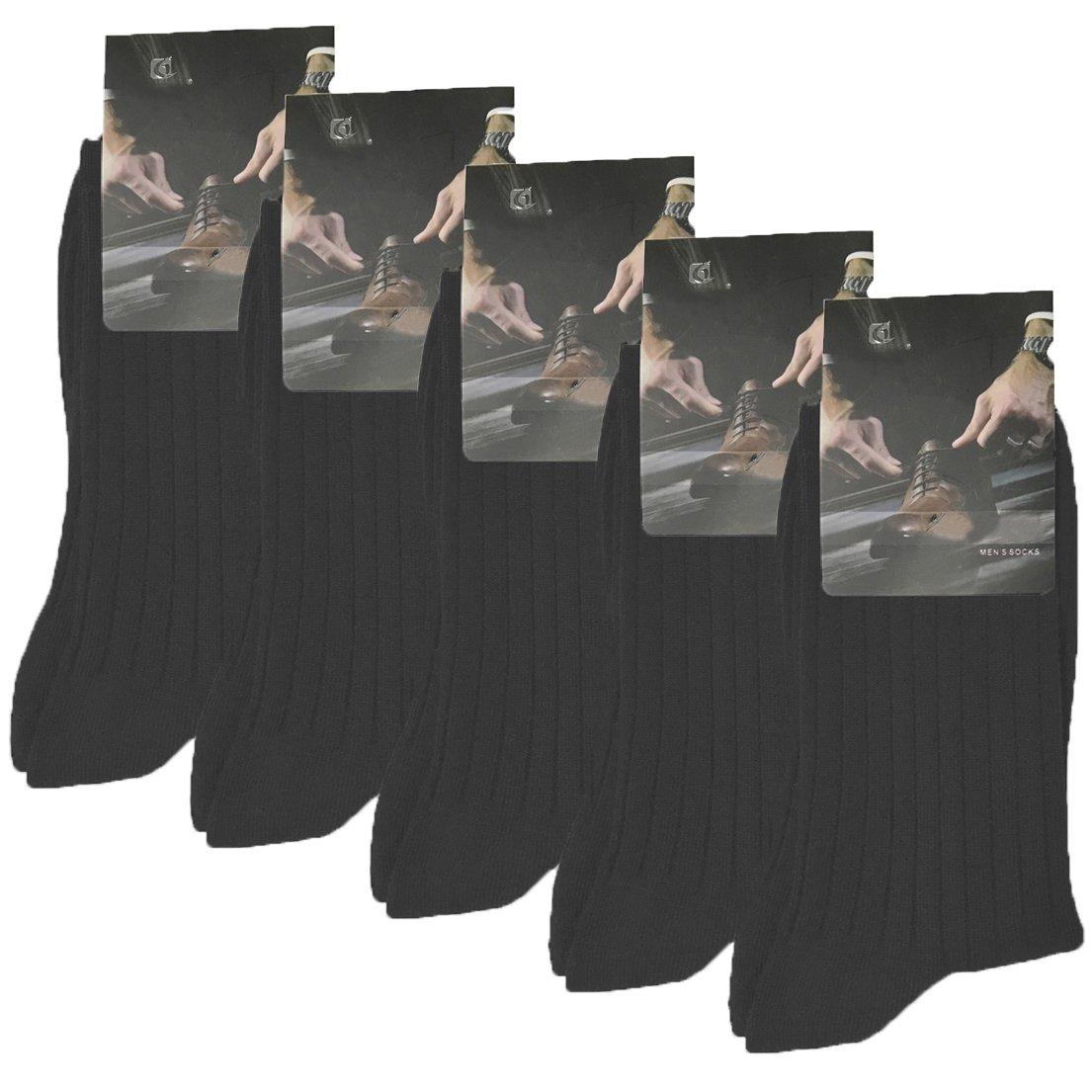 Chaussettes Homme, Evedaily Lot de 5/10 Paires Coton Chaussettes confortable et respirante Noir, Bleu Marine, Gris, Blanc, Taille EU 39-44