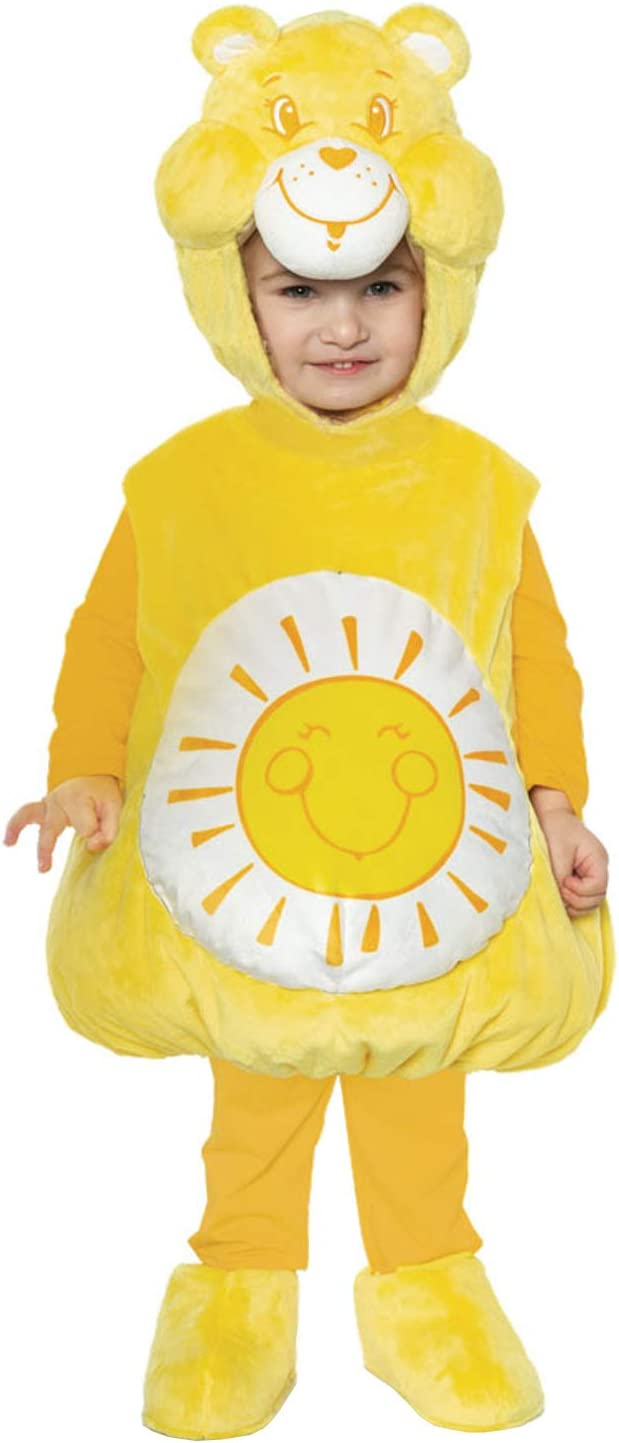 UNDERWRAPS Kid's Care Bears Funshine Bear Toddler's Costume Childrens Costume, White, Large (2-4T)