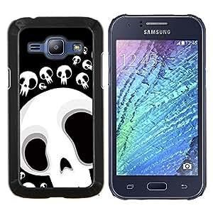 For Samsung Galaxy J1 J100 Case , Divertido cráneo Lol Cara- Diseño Patrón Teléfono Caso Cubierta Case Bumper Duro Protección Case Cover Funda