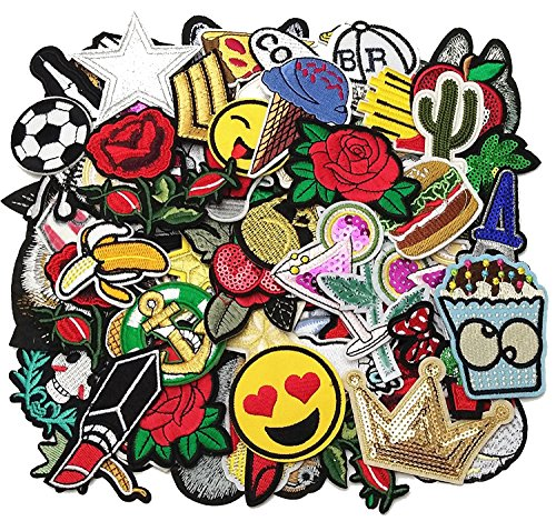 random assorted styles embroidered patch