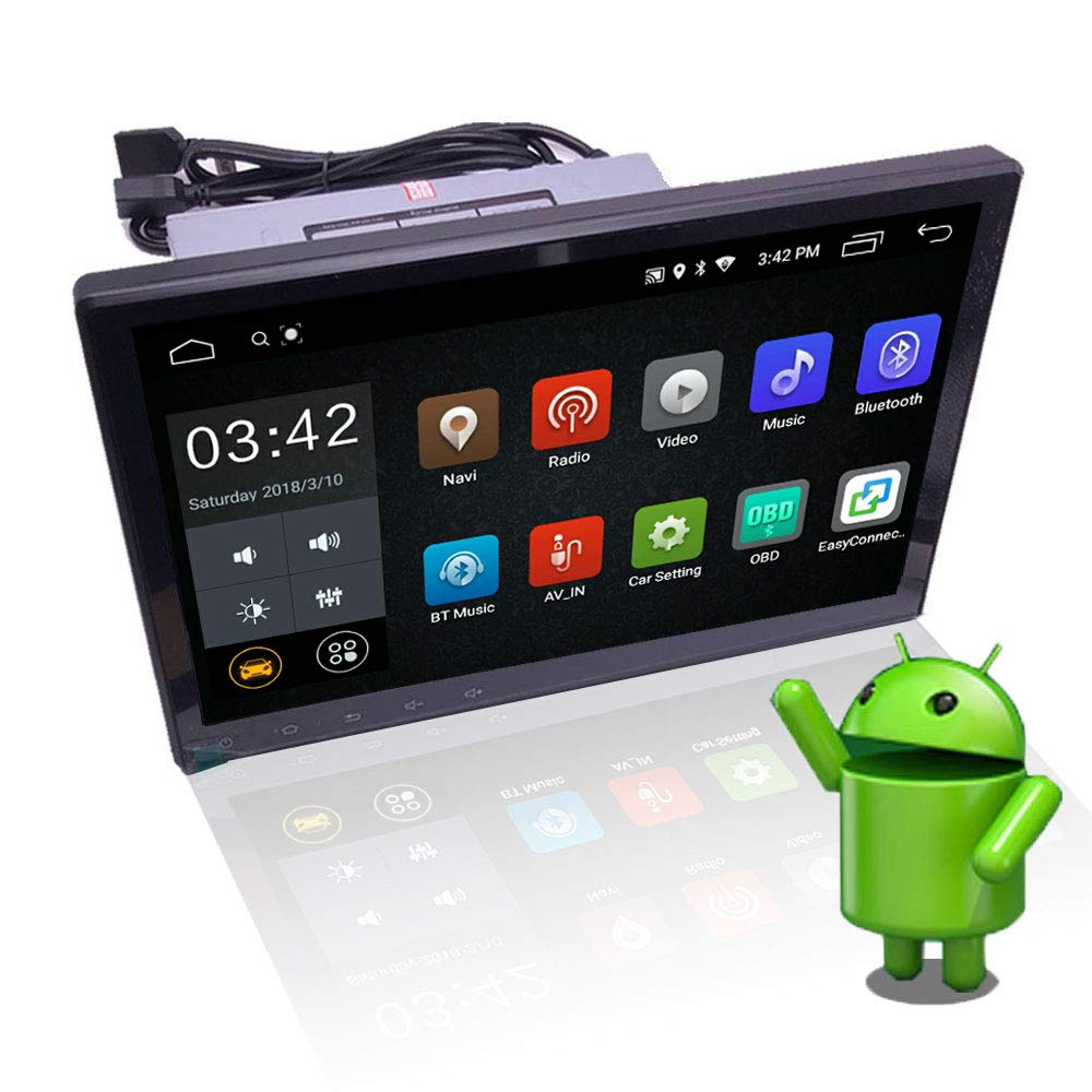 YODY 10 1 Inch Single Din Android 8 1 Car Stereo HD Capacitive Touch Screen  Car Radio Audio Support Bluetooth WiFi GPS Navigation Mirror Link (NO DVD)