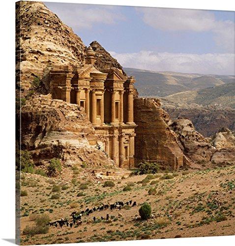Johanna Huber Premium Thick-Wrap Canvas Wall Art Print Entitled Jordan, Petra, El-Deir ()