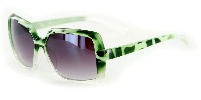 Aloha Eyewear Girl's ''Wild Child'' Square 50mm Sunglasses 100% UV Protection (Green w/ Smoke Lens)