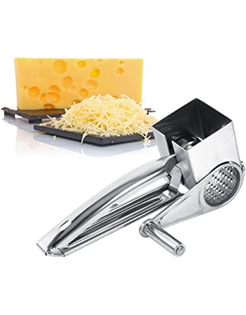 Rallador de queso Molinillo Queso con manivela para queso de acero inoxidable multifunción Kitchen Craft