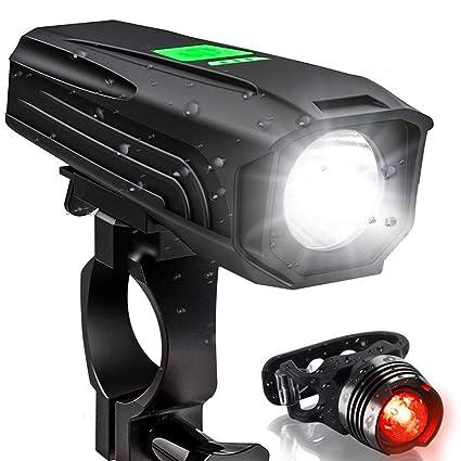 bb6c1d159b5 ThreeMay 2019 Version USB Rechargeable Bike Light Set, 450 Lumen Super Bicycle  Headlight Free Tail