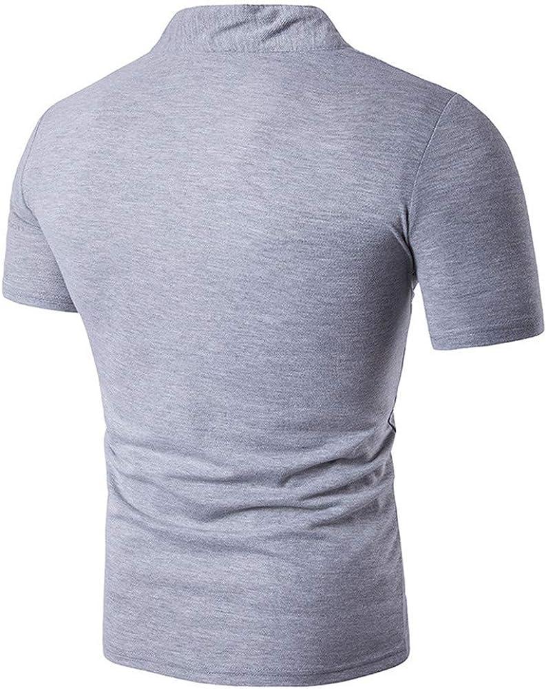 Polo para Hombre de Manga Corta Algodón Camisas Impresión Casual ...