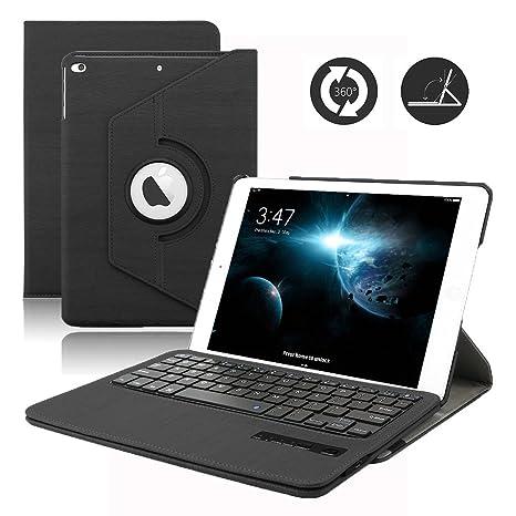iPad 9.7 2017/2018 Pulgada Teclado Funda, Dingrich Wireless Bluettooth Keyboard 360 Grados Girar