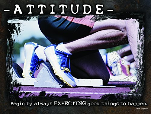 Attitude and Good Things Motivational Laminated Track and Field Sports Poster