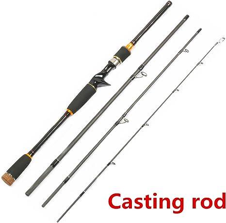 SUGA93 2.1M 2.4M 2.7M caña de Pescar de Carbono Spinning Casting ...
