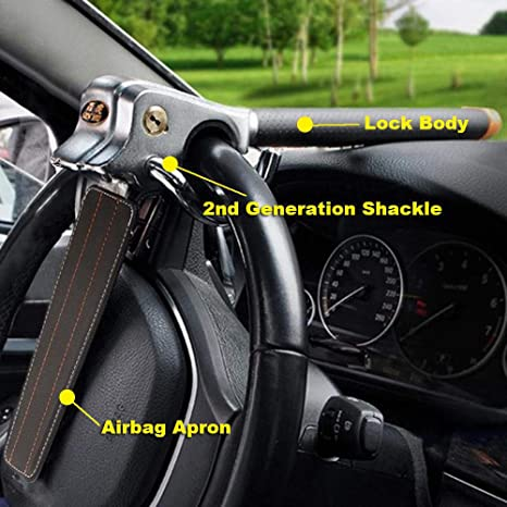 Foldable Car Steer Wheel Anti Theft Security Airbag Lock Safe Devices Key UK