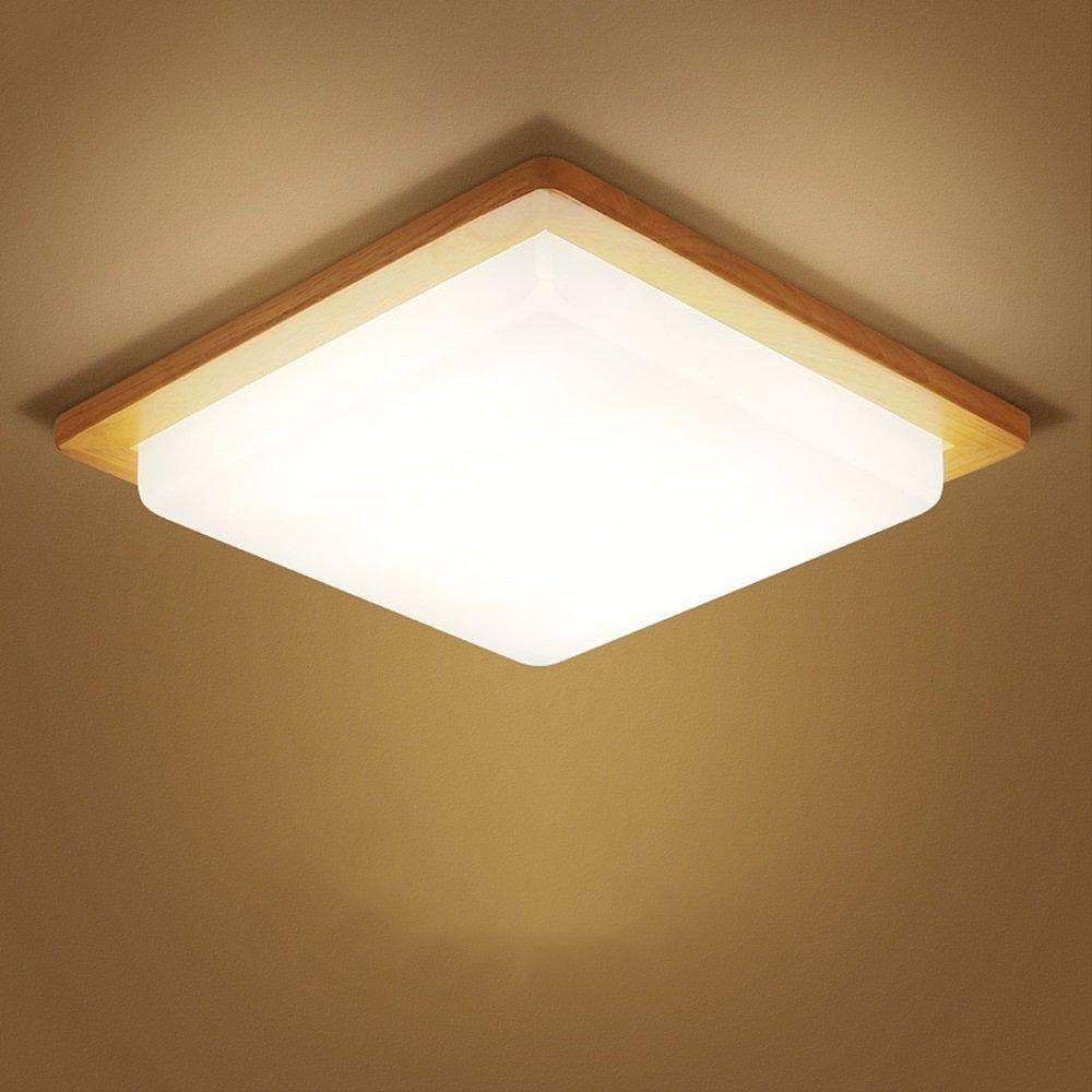 MLMHLMR Einfache Moderne Massivholzacryl führte Deckenlampe einfache Schlafzimmer Lampe warme Wohnzimmer Lampe Massivholz Studie Lampe skandinavischen Stil japanische Lampen Deckenleuchte