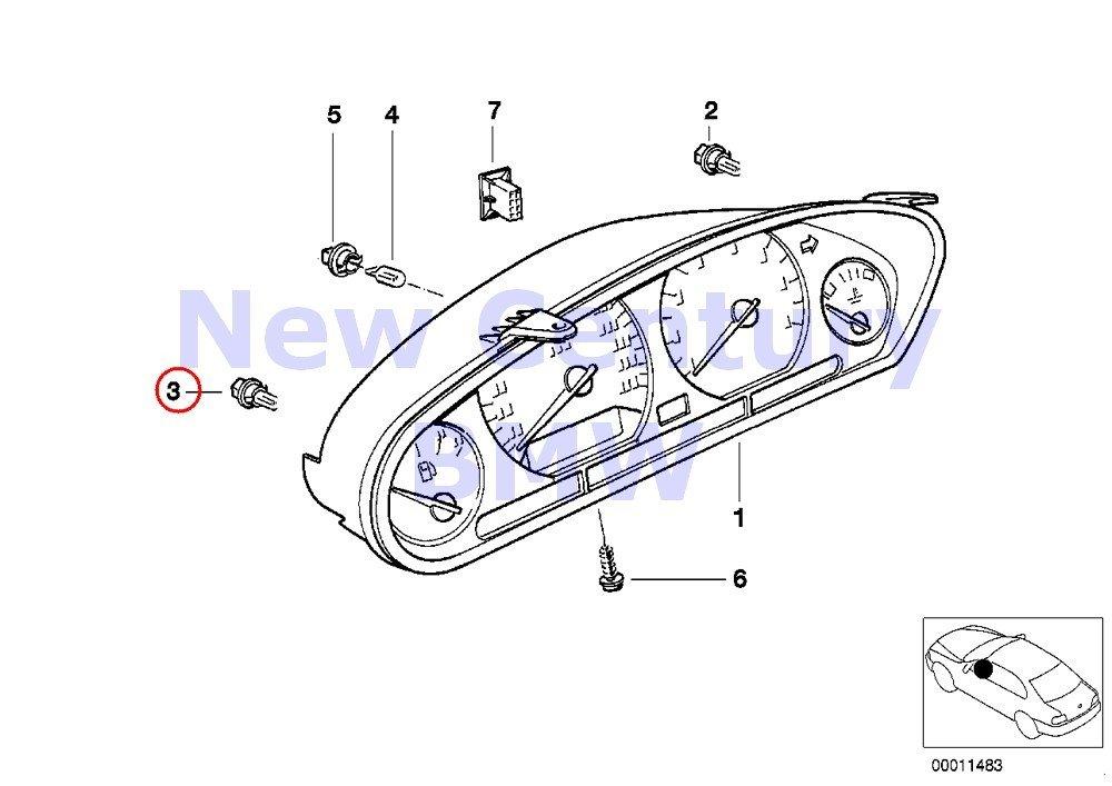Amazon.com: 4 X BMW Genuine Instrument Cluster On-Board ... on
