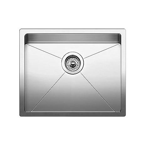 Beautiful Blanco 519546 Quatrus R15 Under Mount Single Bowl Kitchen Sink, Small,  Stainless Steel
