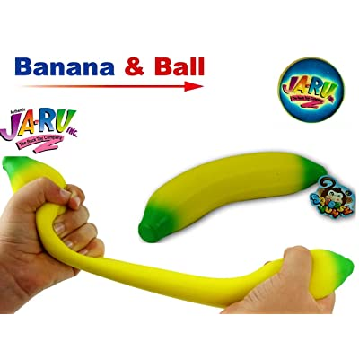 JA-RU Stretchy Banana Sensory Toy (1 Pack) Stress Relief Toys | Fidget Toys for Kids and Adults. Autism Toys & Party Favors. 1-3340-1p: Toys & Games