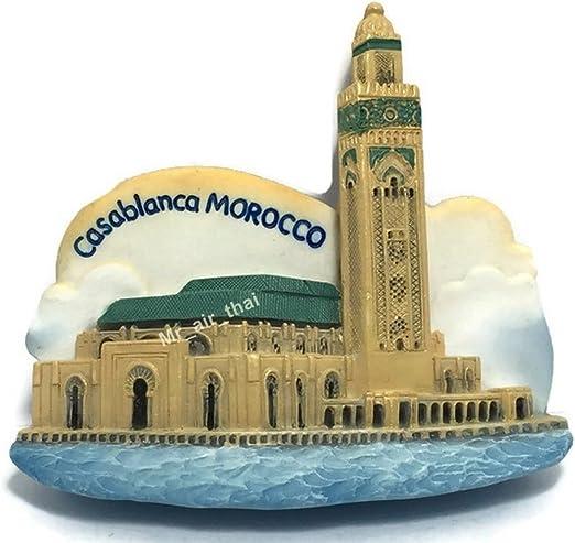Morocco Hassan Ii Mosque in Casablanca 3d Fridge Magnet SOUVENIR Gift 068