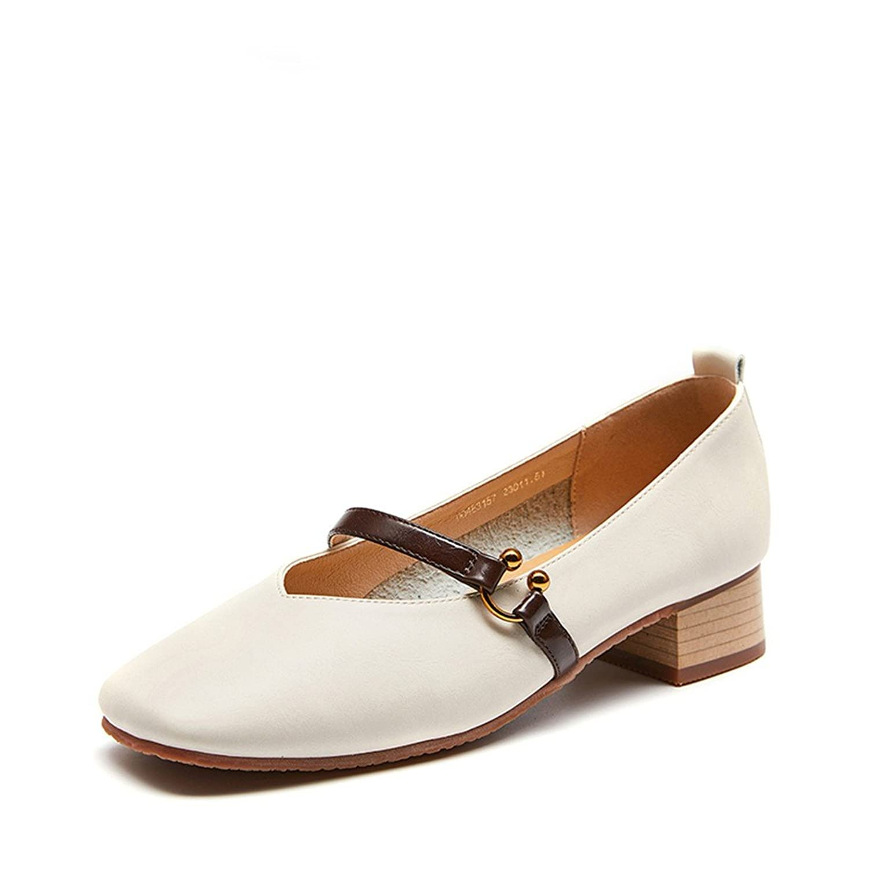 25cc65e4 Jane Retro Cuadrada Wxmddn Mujer De Primavera Cabeza Zapatos Mary ZOXiukPT