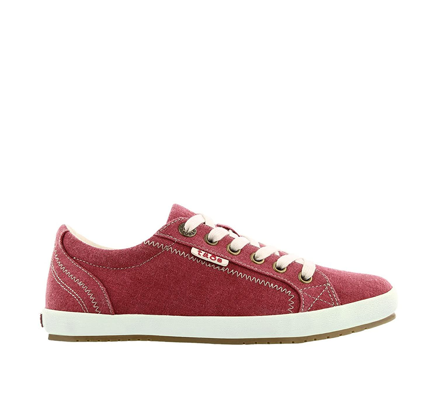 Amazon.com | Taos Women's Star Ruby Red Washed Canvas Sneaker 7.5 B (M) US  | Oxfords