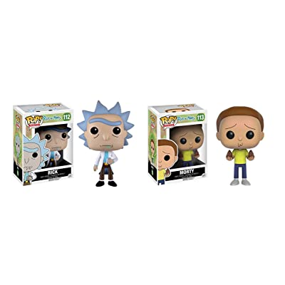 Funko POP Animation: Rick & Morty - Rick - Morty Action Figure Bundle: Toys & Games