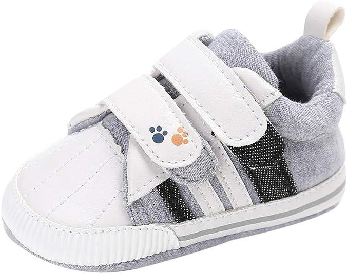 PinkLu Velcro Zapatos de Algodon Bebé recién Nacido Niñas bebés ...