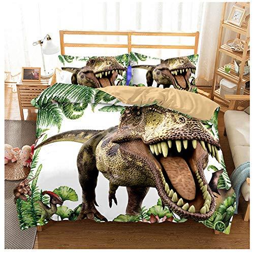 3pc/Set - Jurassic World Queen Bed Set-Bedding Sets Queen - Jurassic Period 3D Oil Tyrannosaurus Rex Men's, Girls,Kids, Home Bedding Quilt Cover,Dinosaurs T-Rex,Jurassic World Dinosaur-Duvet - Queen Turtle Sheets Ninja