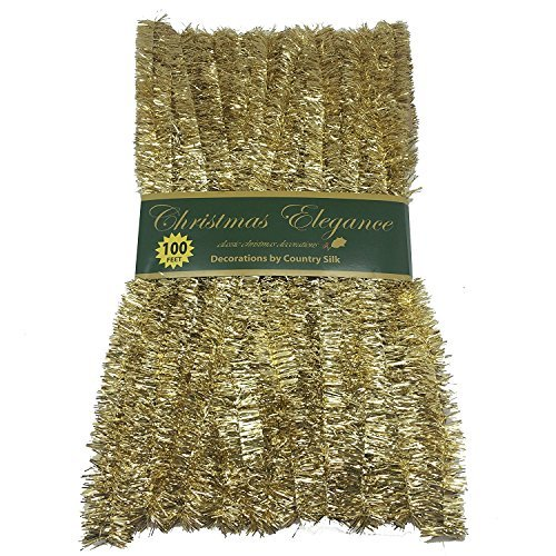 100 FT Commercial Length Christmas Garland Classic Christmas Decorations, Gold -