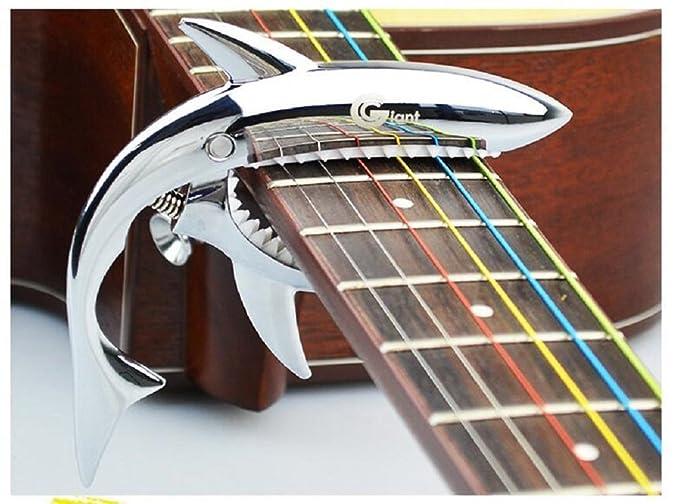 Youniker Cejilla Guitarra Española Cejilla Guitarra para Electricas Clásica Acústica Folk Ukelele Bajo Aleación de Aluminio Guitar Capo con 2 Púas 0,71mm: ...