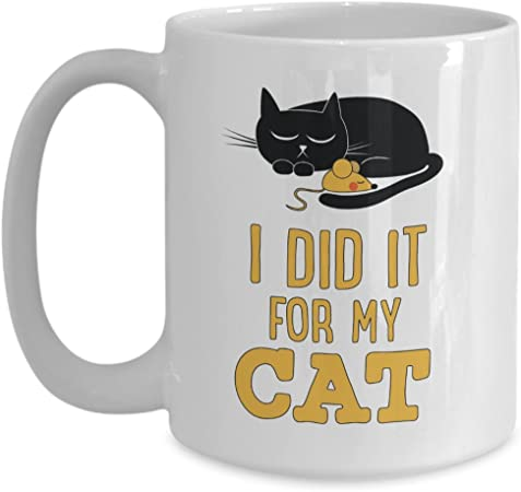 Amazon Com Graduated Coffee Mug I Love Cat And Kitten Cup Cat Lover Stuff I Did It For My Cat Kitten Gift For Cat Lover Mug Kitchen Dining