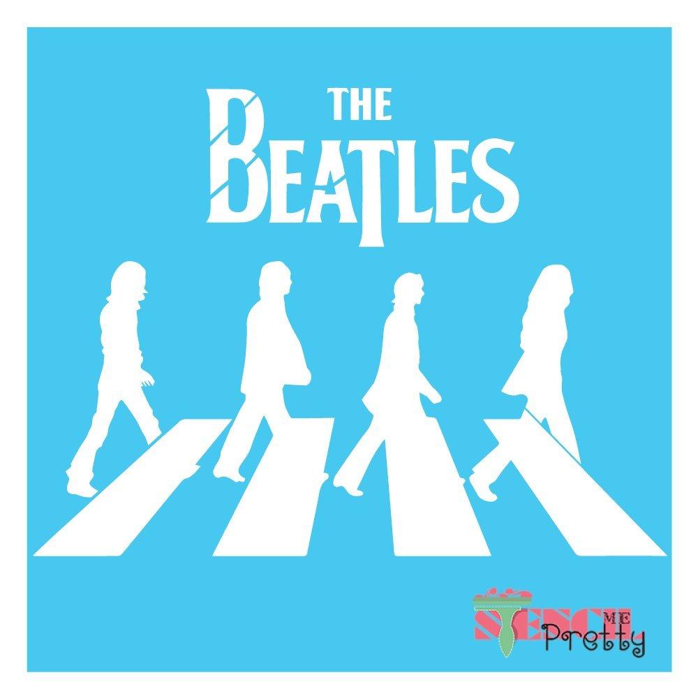 "11/"" x 8/"" XS The Beatles Album Stencil DIY Art Template"