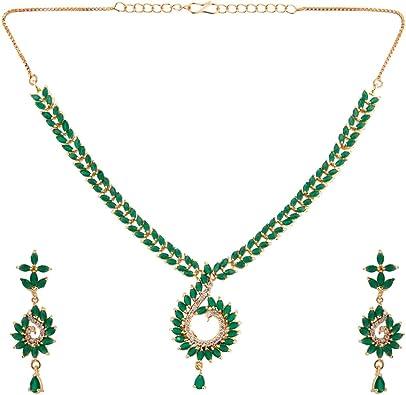 Costume Fashion Jewelry Necklace 18 inch gold tone rhinestone choker style