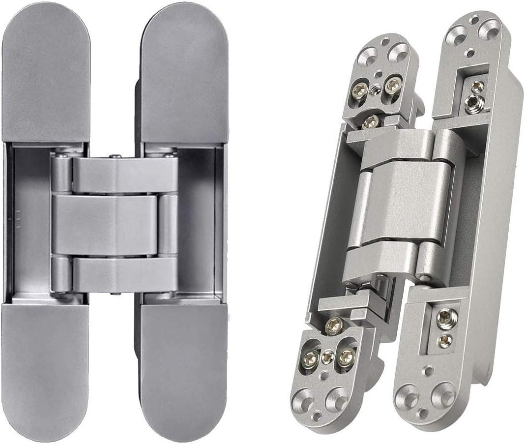 XS Beennex Zinc Alloy Hidden Hinges Invisible Concealed Cross Door Hinge Bearing Silver
