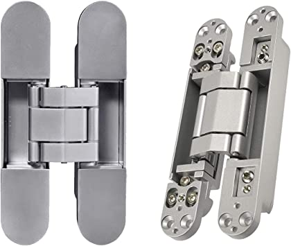 Bright Brass Plating Invisible//Concealed Single Door Hinge Set of 2 Finish