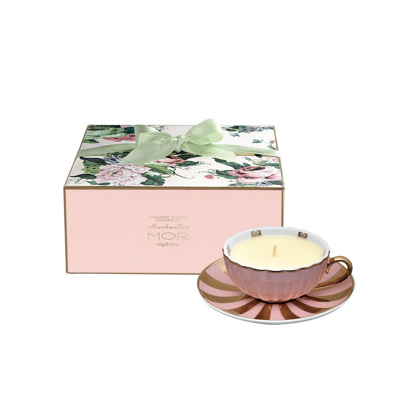 Amazon.com : Mor Cosmetics Marshmallow Tea Cup Candle, 5.8-Ounce ...