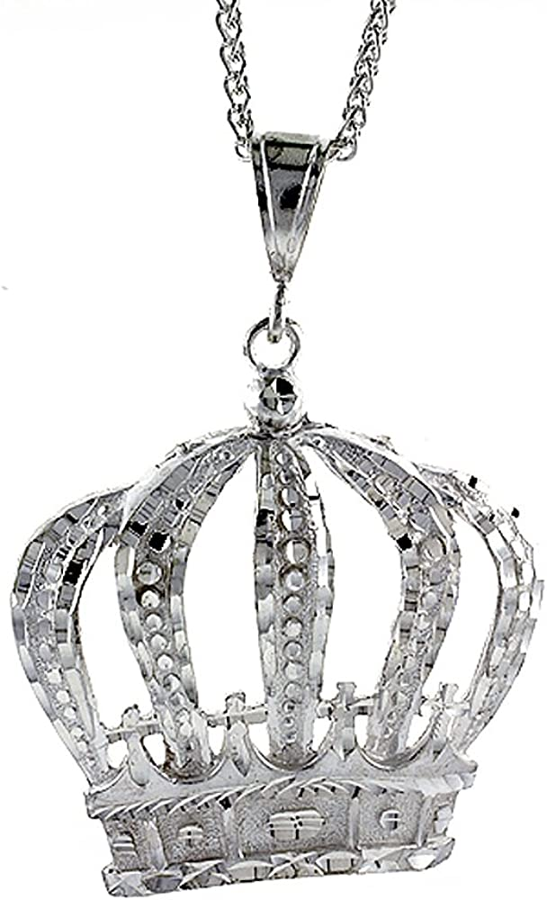 2 pcs sterling silver crown charm crown pendant NR2