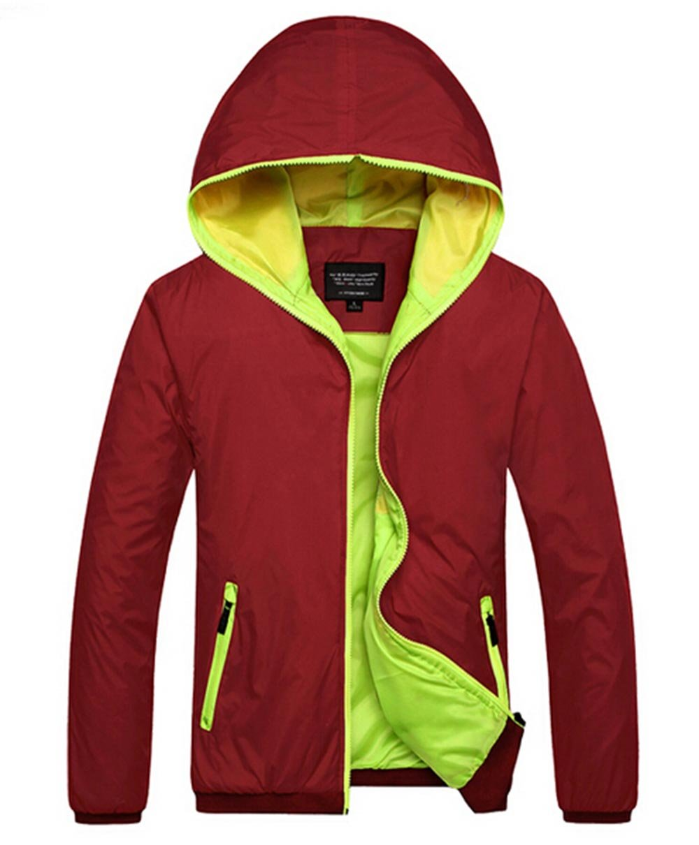 Amcupider Big Boys Hooded Rain Quick Dry Jacket Windbreaker by Amcupider