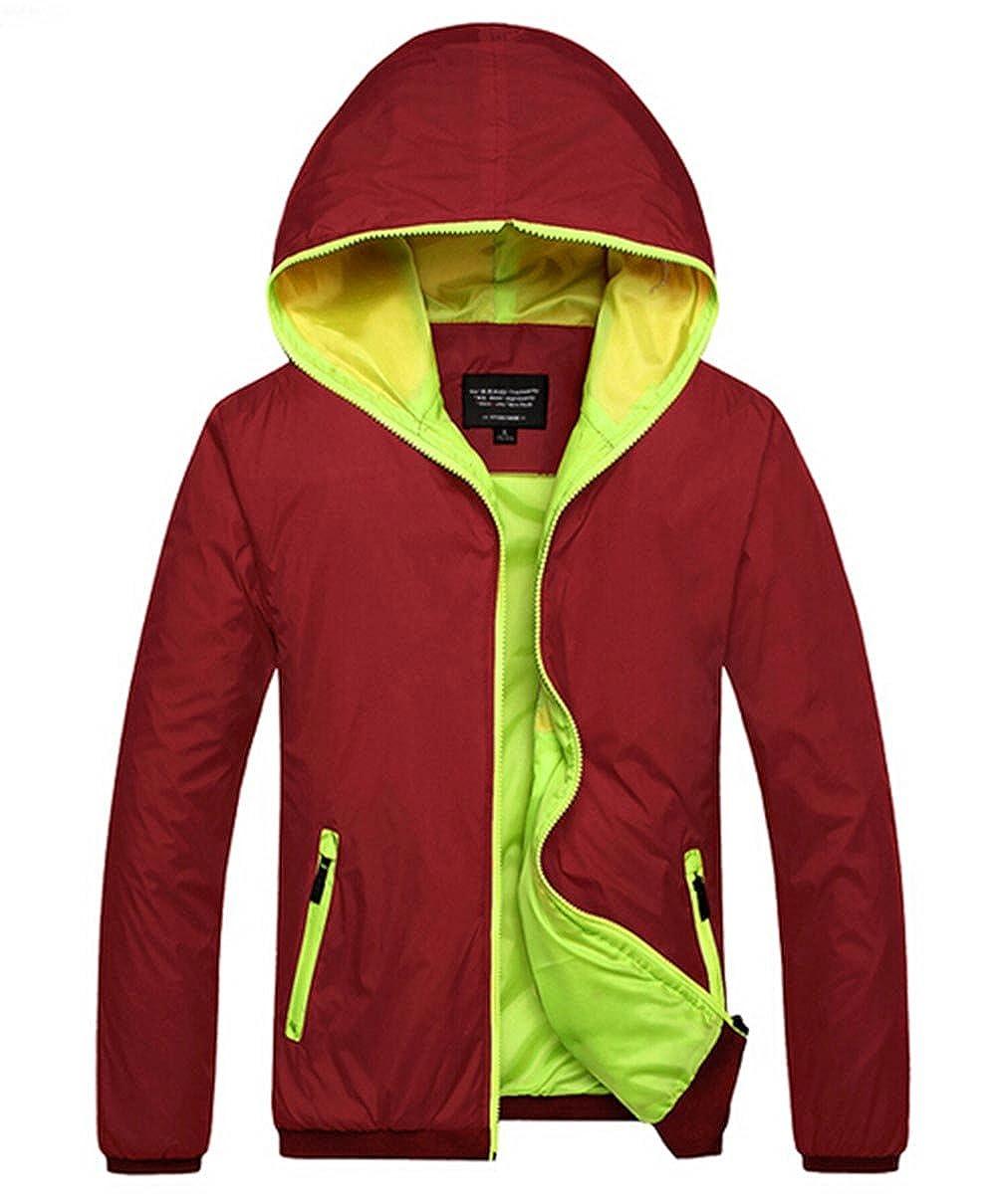 201a97cce Amazon.com  Amcupider Big Boys Hooded Rain Quick Dry Jacket ...