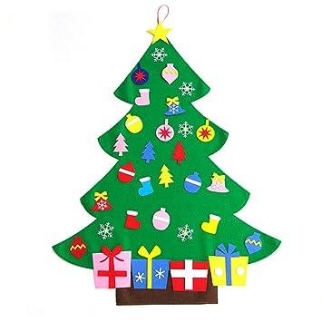 Toddler Christmas Tree.Rzctukltd 3ft Christmas Deluxe Felt Tree Door Wall Hanging Toddler Childs Preschool Diy