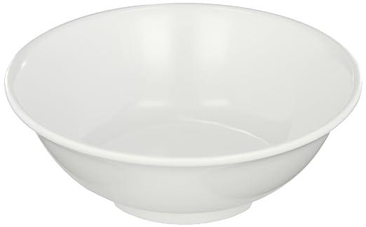 Amazon Com Carlisle 4373702 Melamine Footed Serving Bowl 24 Fl Oz Capacity 7 3 8 Dia X 2 5 8 H White Case Of 12 Industrial Scientific
