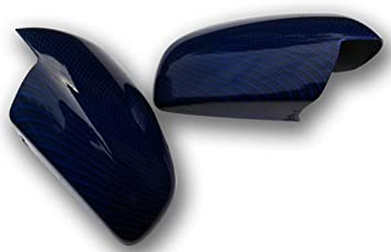 1 Paar Spiegelkappen Vectra C Signum Mit Wassertransferdruck Carbon Blau Spiegel Außenspiegel Auto